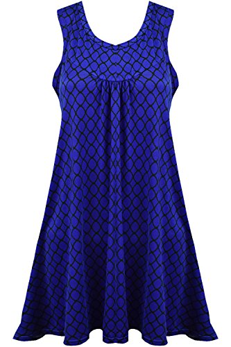 Vanilla Inc - Camisas - Manga Corta - para mujer royal blue with black box print