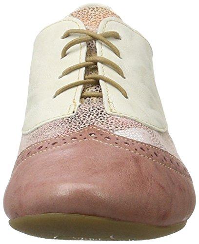 Think Guad, Zapatos de Cordones Derby para Mujer Pink (Rosa/KOMBI 33)