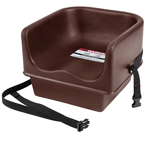 (Cambro 100BCS Brown Single Seat Booster Chair with Strap)