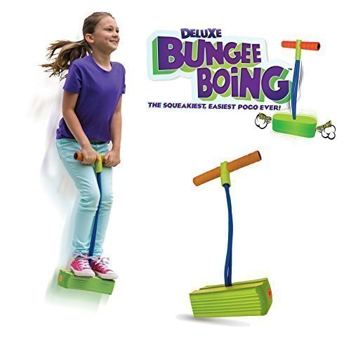 Geospace Jumparoo Deluxe Bungee Boing Foam Bouncing Toy – The Squeakiest, Easiest Pogo Stick Ever! for Kids 3 Years & Up…
