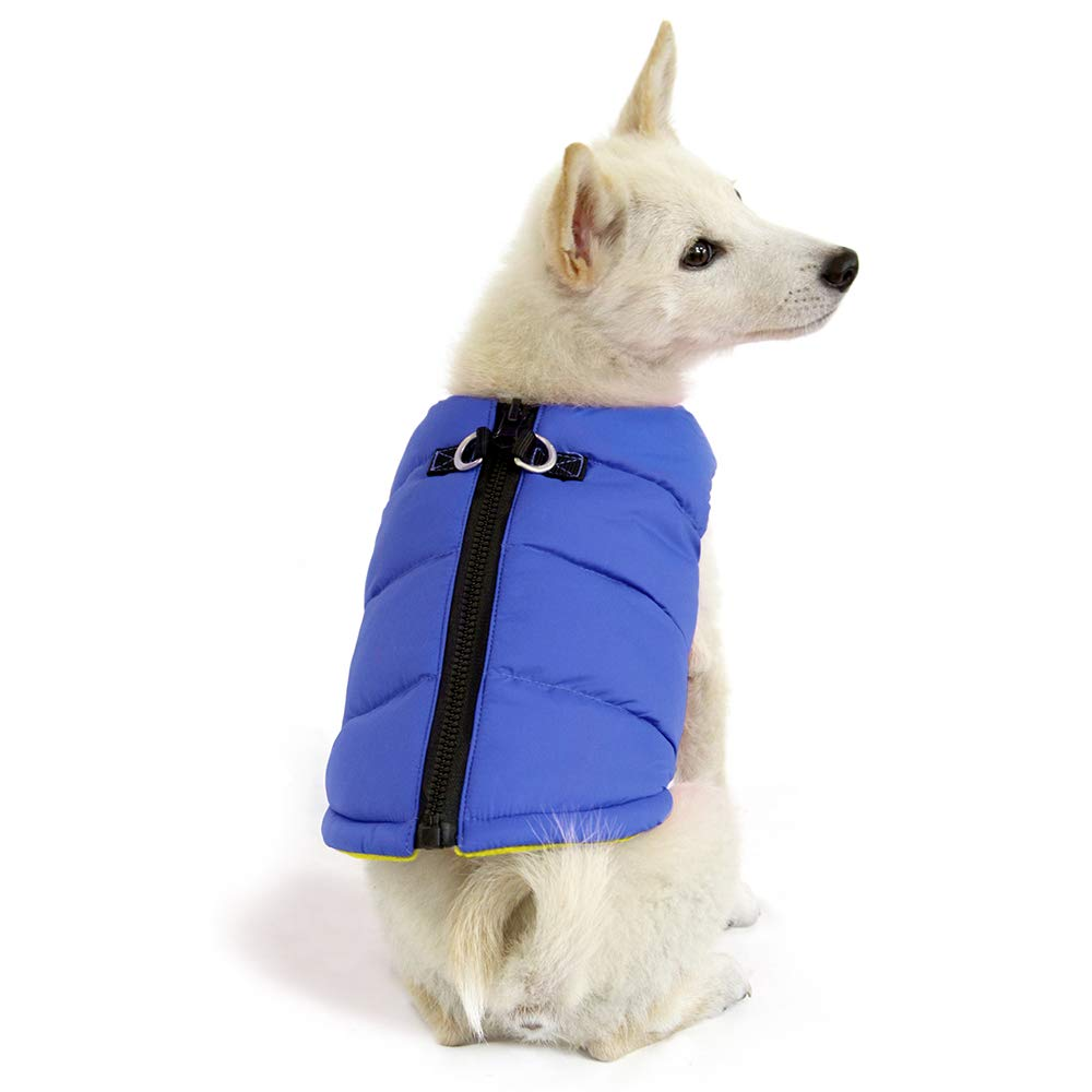 18.5 Red Medium Chest Gooby 74003-RED-M Padded Cold Weather Vest for Small Dogs with Safe Fur Guard Zipper Closure
