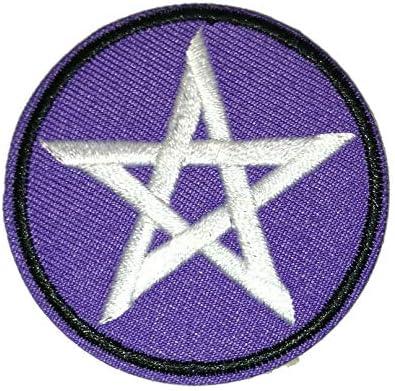 Parches de pentagrama satánico de tela bordada para pegar con plancha: Amazon.es: Hogar