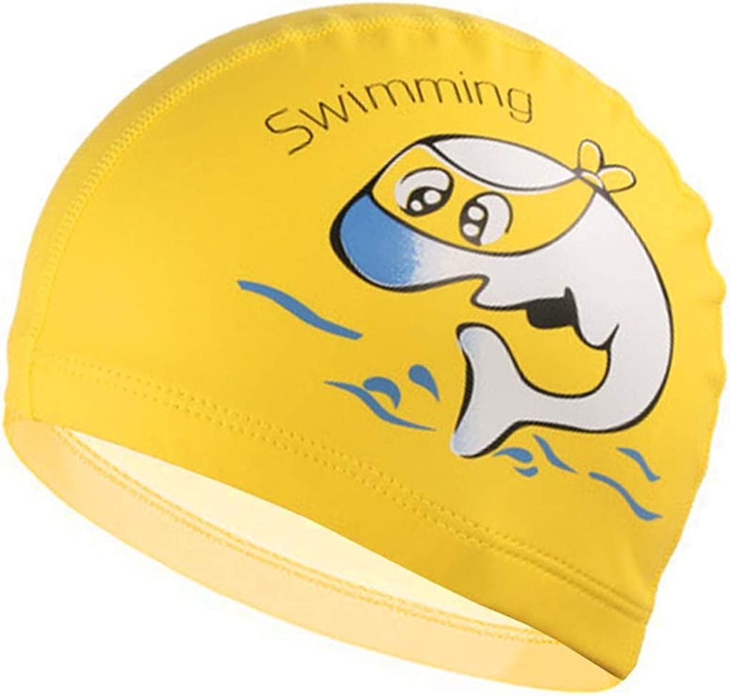 Gogokids Kids Swimming Cap Children Swim Hat for Hair Care and Ear Protection Breathable