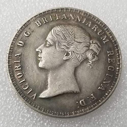 (MarshLing United Kingdom Old Coins - British Old US Coin-Old UK Coin Collecting - 1839 Queen Victoria Coin - Uncirculated Condition Perfect Quality)