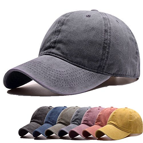 FADA Men's Baseball Caps 100% Cotton Pigment Dyed Low Profile Six Panel Cap Hat (Pigment Cap Twill Solid Dyed)