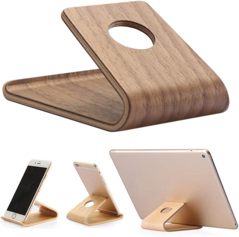 feeilty - Soporte Universal de Madera para Smartphone, Tablet y ...