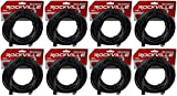 (8) Rockville RDX3M50 50 Foot 3 Pin DMX Lighting Cables 100% OFC Female to Male