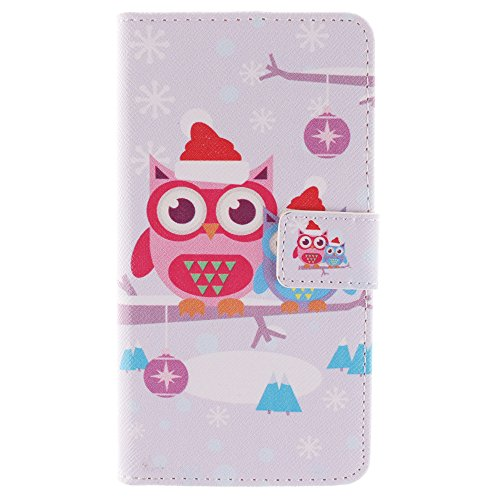 For Sony Xperia Z3 Case, IVY Owl Christmas Graphics - Cute Fashion Magnetic Snap Wallet Card Flip Synthetic Leather TPU With Stand Cover Case For Sony Xperia Z3