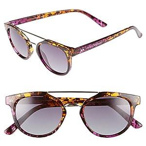 "PRIVÉ REVAUX ICON Collection ""The Churchill"" Handcrafted Designer Polarized Round Sunglasses For Men & Women (Purple Tortoise)"