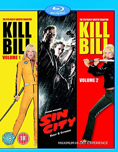 Sin City/Kill Bill Volume 1/Kill Bill Volume 2 [Blu-ray] [Import anglais] (Sin City 1 And 2 Blu Ray)