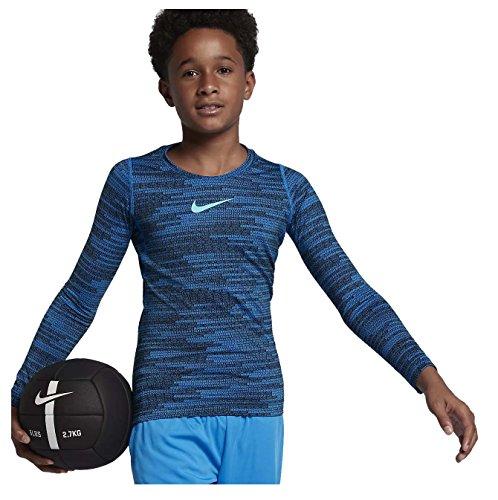 Nike Big Boys' (8-20) Dri-Fit Pro Warm L/S Training Top-Photo Blue-XL
