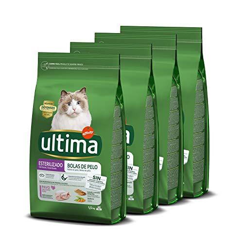 Ultima Pienso Para Gatos Esterilizados Para Prevenir Bolas De Pelo Con Pavo 4 X 15 Kg