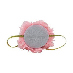 Infant Baby 1st Birthday Party Hat Princess Hairband Baby Girl Flower Delicate Hair Accessories Crown Party Hats (Color: Pink, Tamaño: Small)