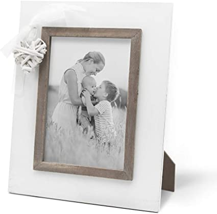 Ashley Farmhouse Rustic Wooden LOVE Standing Photo Frame