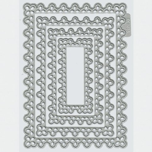 We R Memory Keepers Nesting Doily Rectangles Cookie Cutter Die Set by QUICKUTZ