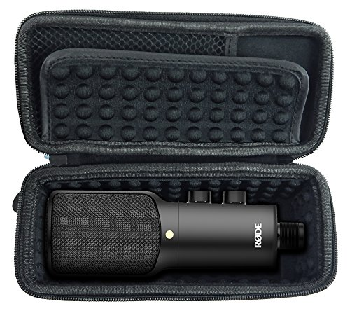 CASEMATIX NT-USB Case for USB Condenser Microphone - Padded Storage to Carry NT USB , NTUSB , NT1 A , NT1-A Mics and Small Cables
