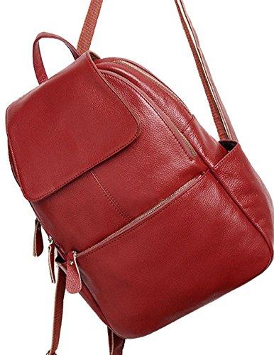 Menschwear Moda Mujer Chica funda mochila escolar bolsa Rojo Rojo