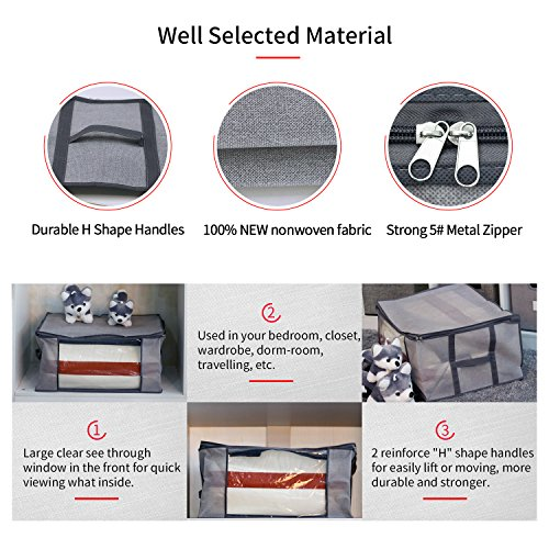 9e5f7d3a90f6 Onlyeasy Storage Bag Organizers for Closet Shelf - Set of 2 - Import ...