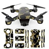 Ocamo Camouflage Camera Drone Decals for DJI Spark Skin UAV PVC Carbon Fiber Stickers for DJI Spark Accessories
