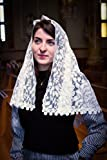 Chapel Veil for Mass, Ivory Mantilla Veil