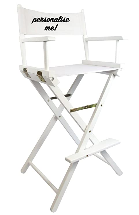 White Premium Tall Makeup Chair With Free Personalisation: Amazon.co.uk:  Beauty