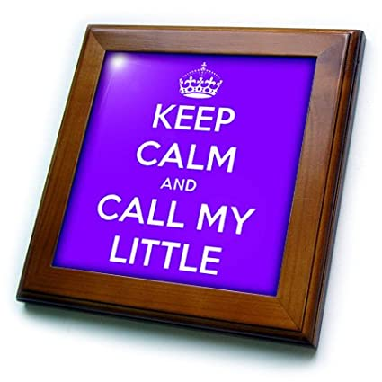 Purple-Framed Tile Artwork 3dRose ft/_193567/_1 Keep Calm and Call My Little 8 by 8-Inch