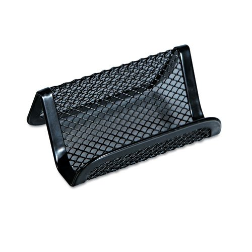 Universal One 20005 Mesh Metal Business Holder, 50 2 1/4 x 4 Cards, Black