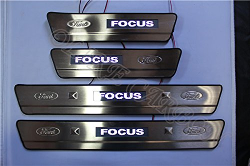 OLIKE For Ford Focus 2009-2012 Car Door Sill Scuff Plate Guard Entry Door Guard Sills With Led