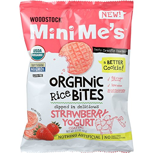 Woodstock Farms Organic Rice Bites-Strawberry Yogurt-2.1 oz - Strawberry Yogurt Chips