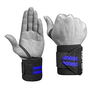 WOD Wear Elastic Wrist Wraps for Powerlifting, Strength Training, Bodybuilding, Cross Training, Olympic Weightlifting…