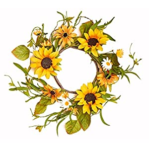 Worth Imports Sixteen Inch Sunflower Wreath 27