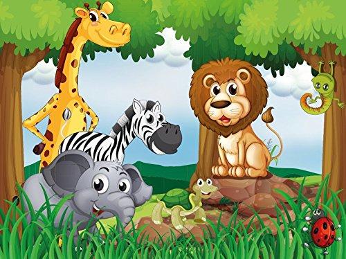 Vlies Fototapete Dschungel Tiere 70v Grosse 350x260cm In 7 Bahnen