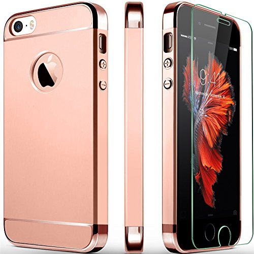 Shockproof Armor Case for Apple iPhone SE/5S/5 (Crystal/White) - 5