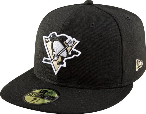 NHL Pittsburgh Penguins Basic 59Fifty Cap, Black, 7 3/8