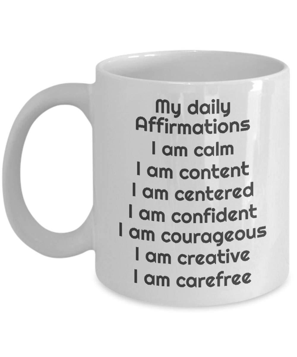 Amazon.com: My Daily Affirmations Mug Mantras Coffee Cup ...