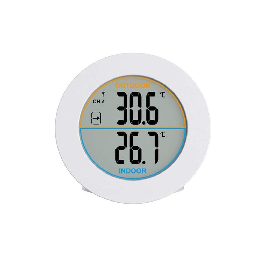 G017 GAOAG Round Thermometer Digital Thermometer Wireless Indoor /& Outdoor Temperature Monitor