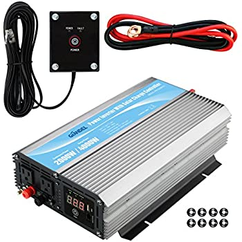 GIANDEL 2000Watt Power Inverter 12V DC to 110V 120V AC with 20A Solar Charge Controller and Remote Control and Dual AC Outlets & USB Port For RV Truck Solar System