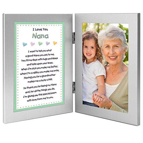 72a8d14cc533 Nana Picture Frames, I Love You Nana Poem - Add Photo to 4x6 Inch Double