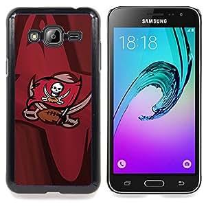 """Qstar Arte & diseño plástico duro Fundas Cover Cubre Hard Case Cover para Samsung Galaxy J3(2016) J320F J320P J320M J320Y (Piratas del equipo de fútbol"""")"""