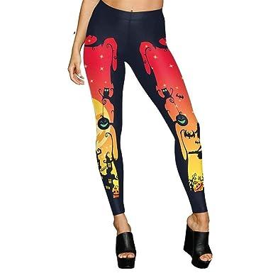 ADELINA Moda Mujer Leggings De De Halloween Día Leggings ...