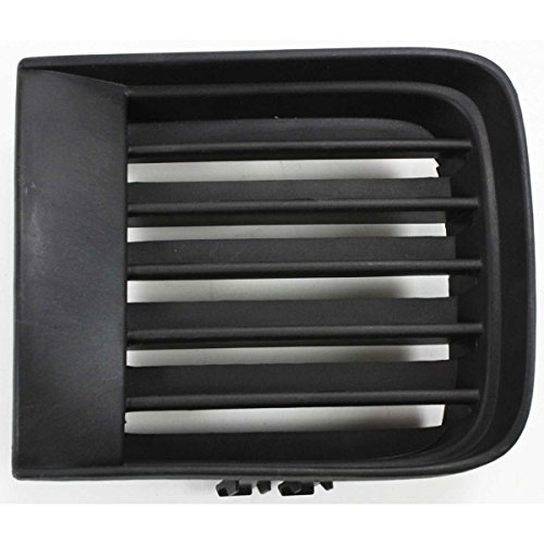DAT AUTO PARTS Black Front Bumper Cover Inner Grille Replacement for 98-04 Nissan Pathfinder from 12/1998 Production Date NI1039103 Right Passenger -