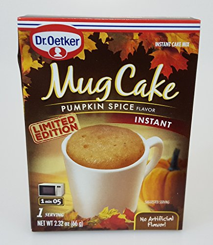 Limited Edition Dr. Oetker Mug Cake Mix 3 Pack (Pumpkin Spice) (Cake Oetker Mug)