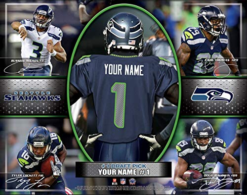 Photo File Action Collage Seattle Seahawks Unframed Poster 12x16 Inches