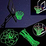 Springen Glow in The Dark Outdoor Basketball Net Nylon Glowing Basketball Hoop Rim Net All Weather Thick Replacement Standard Size Net Rim Hoop Heavy Duty