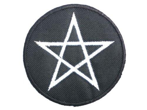 PENTAGRAM Iron On Black Metal Satanic Embroidered Patch 2.6//6.8cm x 2.6//6.8cm By SSLINK