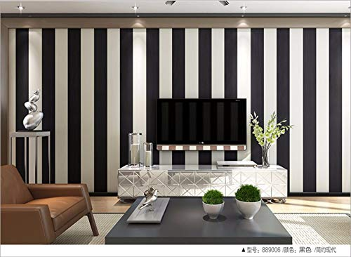 (Sssxka Classic Black and White Striped Wallpaper Modern Minimalist Non-Woven Wide Vertical Stripes Tv Background Wall Living Room Wallpaper Bedroom Creative Sticker)