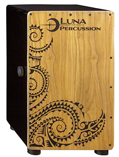 Luna Cajon with Gig Bag, Satin Black