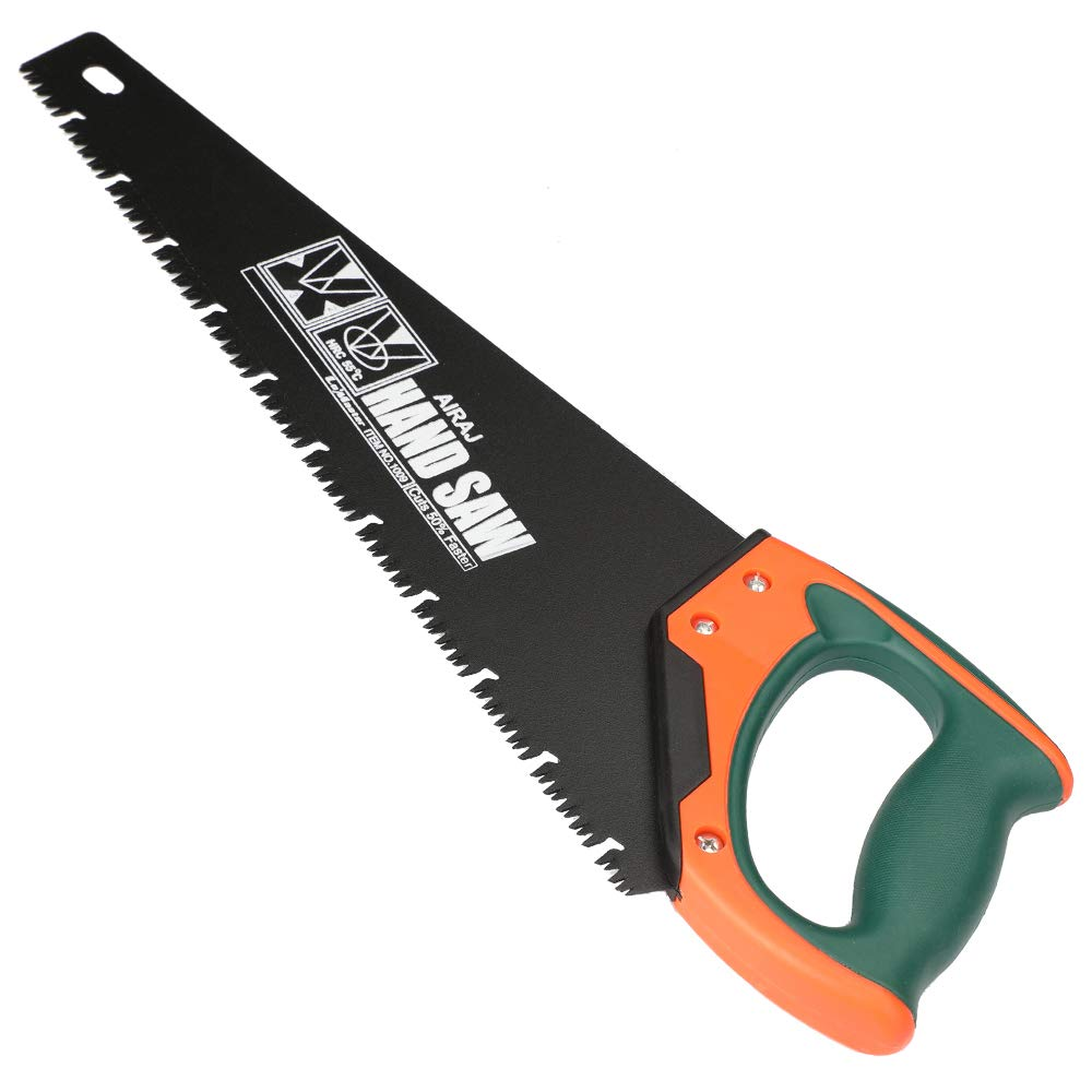 AIRAJ 16'' Quick Cutting Hand Saw,Perfect for Sawing, Pruning,Trimming Gardening and Cutting Wood Drywall Plastic Pipes Branches and More Comfortable Ergonomic Non-Slip Handles by AIRAJ