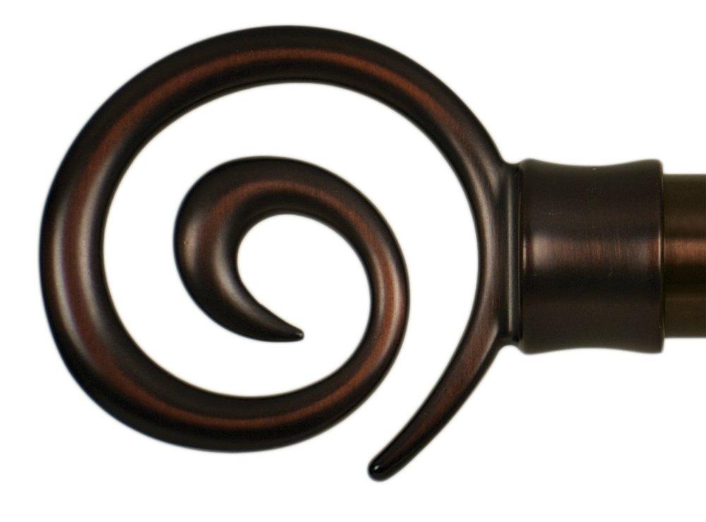 Home Decor Int'l HDI Swirl Finials, Oil Rubbed Bronze, Set of 2