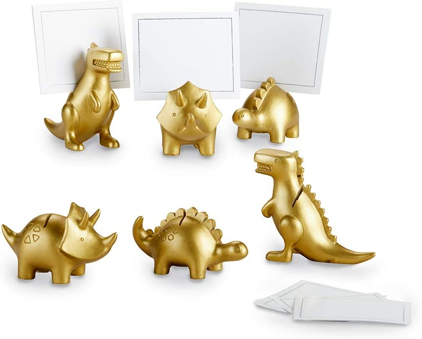 Kate Aspen Dinosaur (Set of 6) place-card-holders, One Size, Gold